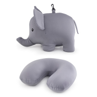 Възглавница за път и играчка - слонче Kikkerland