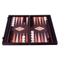 Дървена тъмнокафява табла за игра Manopoulos, венге