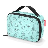 Малка и практична детска термо чанта Reisenthel Thermocase Kids Cats and Dogs в цвят мента