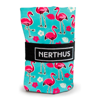 Стилна чанта за пазар Vin Bouquet Nerthus с дизайн на фламинго