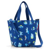 Удобна малка детска чанта в тъмносин цвят Reisenthel Shopper XS Kids Abc Friends, Blue