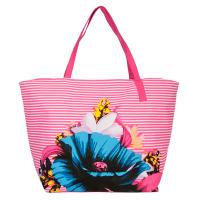 Цикламена голяма чанта за плаж HatYou с дизайн на цветя