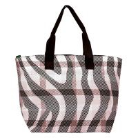 Дамска плажна чанта HatYou в черно-бяло