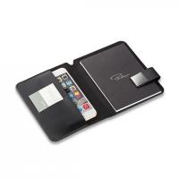 Черен калъф за смартфон с формат А6 Philippi Tom с бележник и магнитно закопчаване
