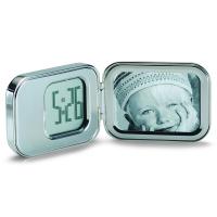 Часовник с аларма и снимка Philippi Nic в сребрист цвят