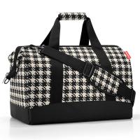 Черно-бяла голяма пътна чанта Reisenthel allrounder L, fifties black