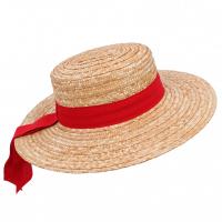 Плетена сламена гондолиерска шапка Fratelli Mazzanti Gondolier's hat