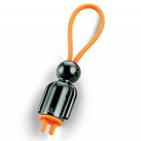 Малък ключодържател Philippi Flic Mister Black в черно и оранжево