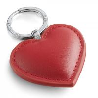 Кожен ключодържател сърце Philippi Cora в червен цвят
