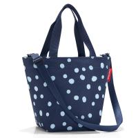 Удобна малка тъмносиня дамска чанта Reisenthel Shopper XS, spots navy