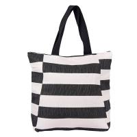 Лятна чанта за плаж на черни райета HatYou