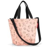 Удобна малка детска чанта в цвят роза Reisenthel Shopper XS Kids Cats and Dogs, Rose
