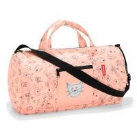 Многофункционална чанта за спорт и пътуване Reisenthel mini maxi dufflebag S, kids cats and dogs rose