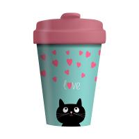 Дамска чаша за кафе Chic Mic с коте и надпис