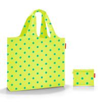 Свежа лимонено жълта чанта за плаж на точки Reisenthel Mini Maxi beachbag, lemon dots