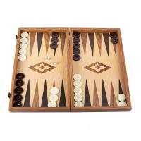 Дървена класическа табла за игра дъб-орех Manopoulos венге, реплика