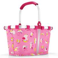 Практична детска чанта Reisenthel Carrybag XS Abc Friends в розов цвят