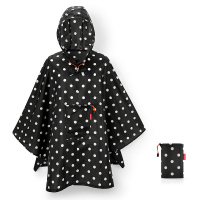 Удобен малък дъждобран пончо в черно на точки Reisenthel Mini maxi poncho, mixed dots