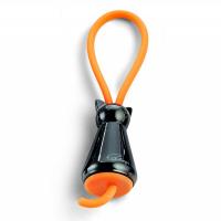 Малък ключодържател Philippi Flic Cat Black в черно и оранжево
