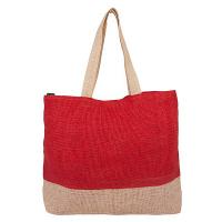 Плетена плажна чанта HatYou, червена