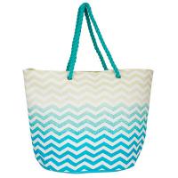 Стилна дамска плажна чанта от канап HatYou, тюркоаз