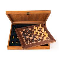 Ръчно изработен класически шах в луксозна кутия Manopoulos