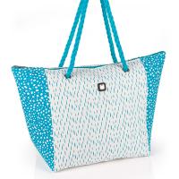 Лятна плажна чанта в светлосиньо и бяло Gabol Noah