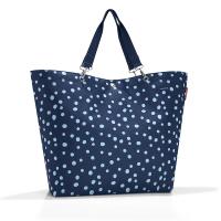 Голяма дамска чанта за пазар в тъмносин цвят Reisenthel Shopper XL, spots navy