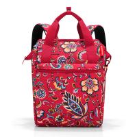 Червена раница и пътна чанта на цветя Reisenthel Allrounder R, Paisley ruby
