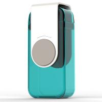 Малка детска кутийка за течности Asobu Juicy със сламка и вместимост от 290мл, в син цвят