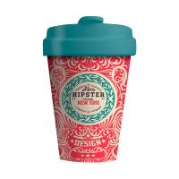 Червена чаша за кафе със зелена капачка Chic Mic