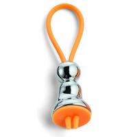 Малък ключодържател Philippi Flic Miss Silver в сребристо и оранжево