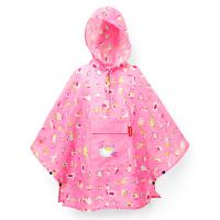 Детски розов портативен дъждобран пончо Reisenthel Mini maxi poncho abc friends pink