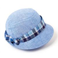 Синя дамска шапка каскет HatYou изработена от памук и лен