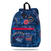 Раница в синьо с цикламени ципове CoolPack CROSS Badges BBlue
