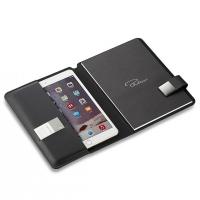 Черен калъф за таблет с формат А5 Philippi Tom с бележник и магнитно закопчаване