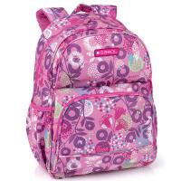 Стилна ученическа раница за момиче Gabol Linda в розов цвят