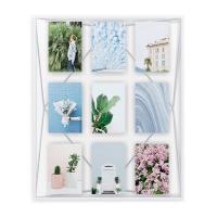 Стилна рамка за 9 броя снимки Umbra Prisma Gallery, бяла
