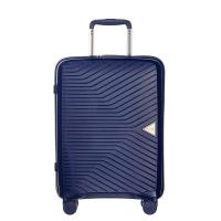 Тъмносин куфар за ръчен багаж Puccini Denver 55см, полипропилен