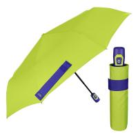 Светлозелен чадър с елементи в синьо Perletti Time, автоматичен