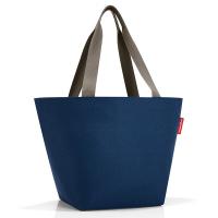 Практична дамска чанта за пазар в син цвят Reisenthel Shopper М, dark blue