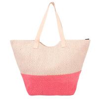 Розова чанта за плажа HatYou с лъскав ефект