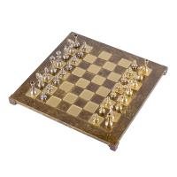 Класически шах с метални стаунтон фигури Manopoulos