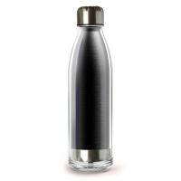 Стилна черна термо бутилка 525мл Asobu Viva La Vie