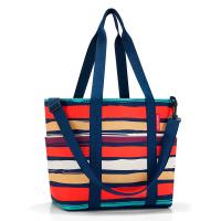 Лятна цветна дамска чанта на райе Reisenthel Multibag, artist stripes