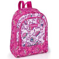Малка ученическа раница за момиче Gabol Magic в розов цвят