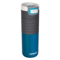 Синя термочаша с добър захват за кафе или чай 500мл Kambukka Etna Grip