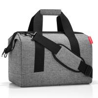 Сива изискана пътна чанта Reisenthel allrounder M, twist silver