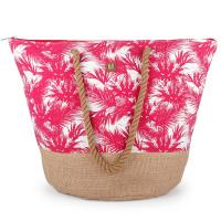 Дамска плажна чанта в розово Gabol Tahiti
