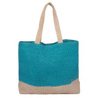 Плетена лятна плажна чанта HatYou в цвят тюркоаз